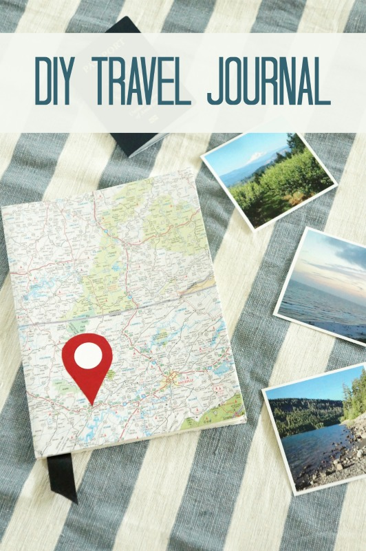 DIY Travel Journal made from old maps