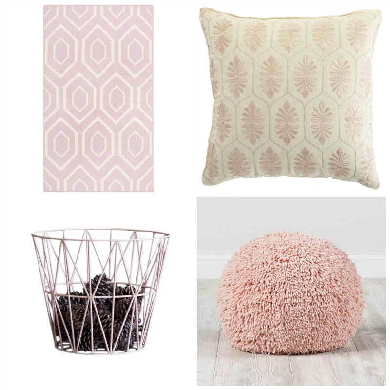 Pantone Color of the Year. Add a dash of Rose Quartz to your home with these pale pink accessories.